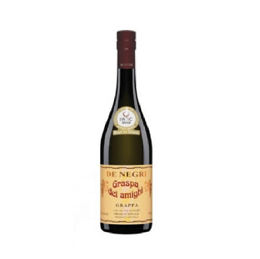 """Visuel Bouteille de grappa De Negri """"Amighi"""""""