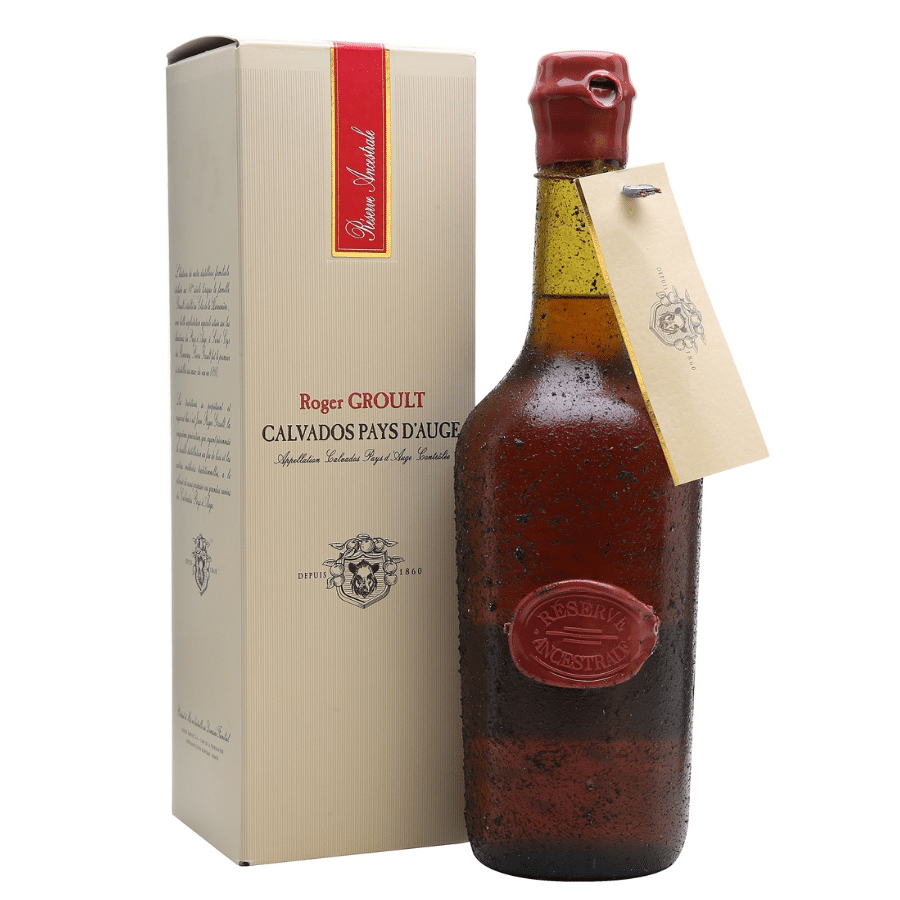 Visuel bouteille Calvados Groult Röserve ancestrale