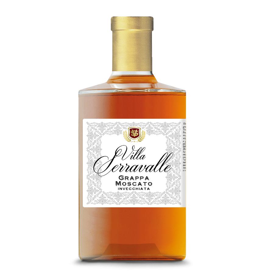 Visuel bouteille grappa Moscato